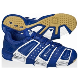 Ausverkauf Adidas Hallenschuhe Stabil 7 Blau  37 1/3